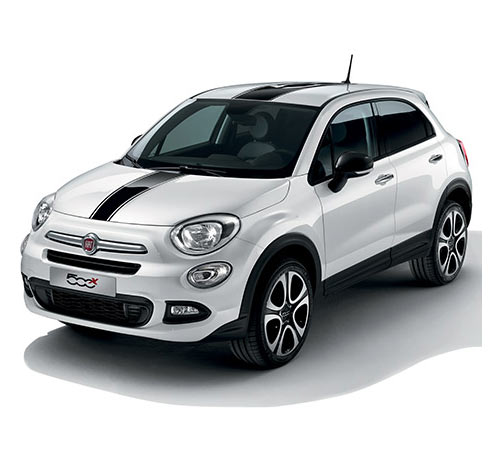 Fiat 500X City Look con sticker neri su cofano e tetto