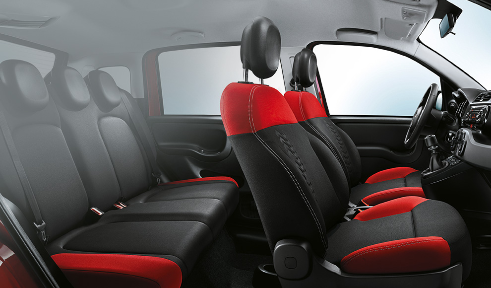 nieuwe fiat panda interieur compacte stadsauto. Black Bedroom Furniture Sets. Home Design Ideas